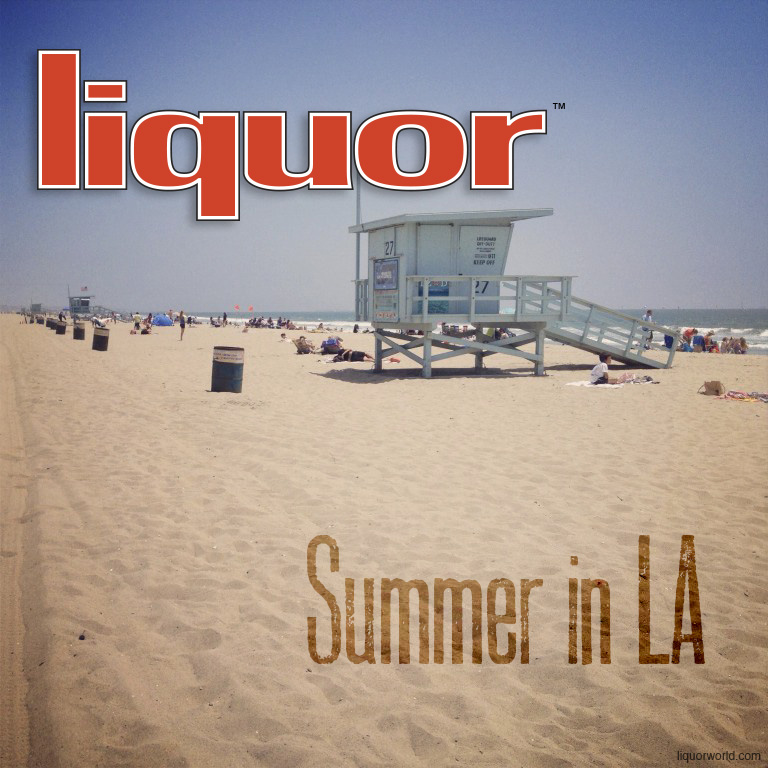 LIquor logo on the beach Summer in LA
